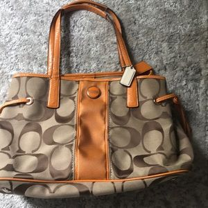 Gently used Coach shoulder purse